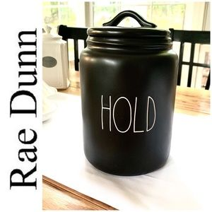 BRAND NEW Rae Dunn HOLD canister black